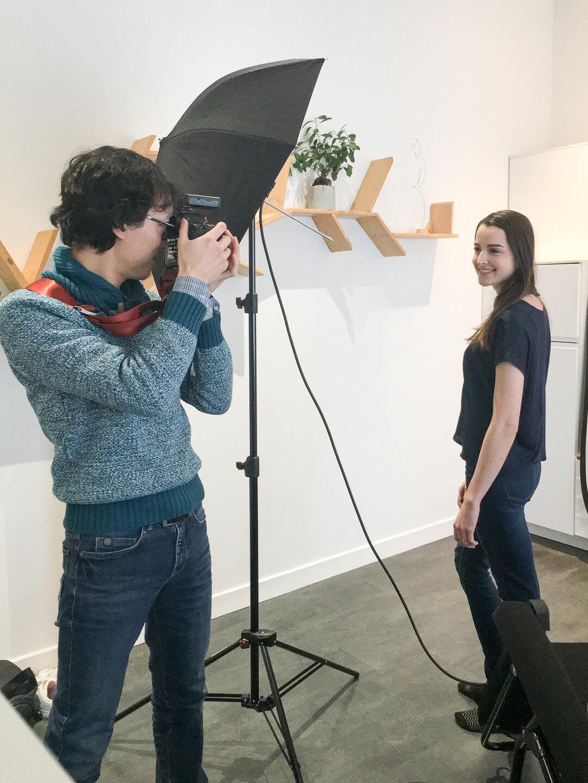 Making of séance photo avec Nam art photography